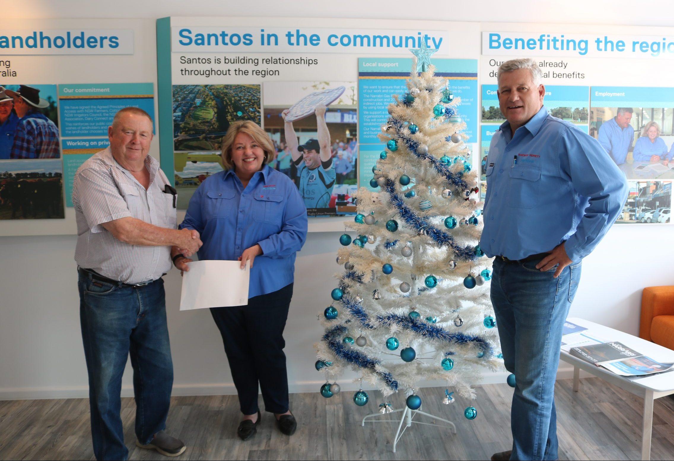 Santos donates $40,000 to help drought families