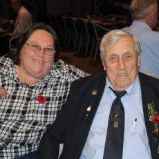 Sharon Peters and Bill Burgess at Narrabri RSL Club.