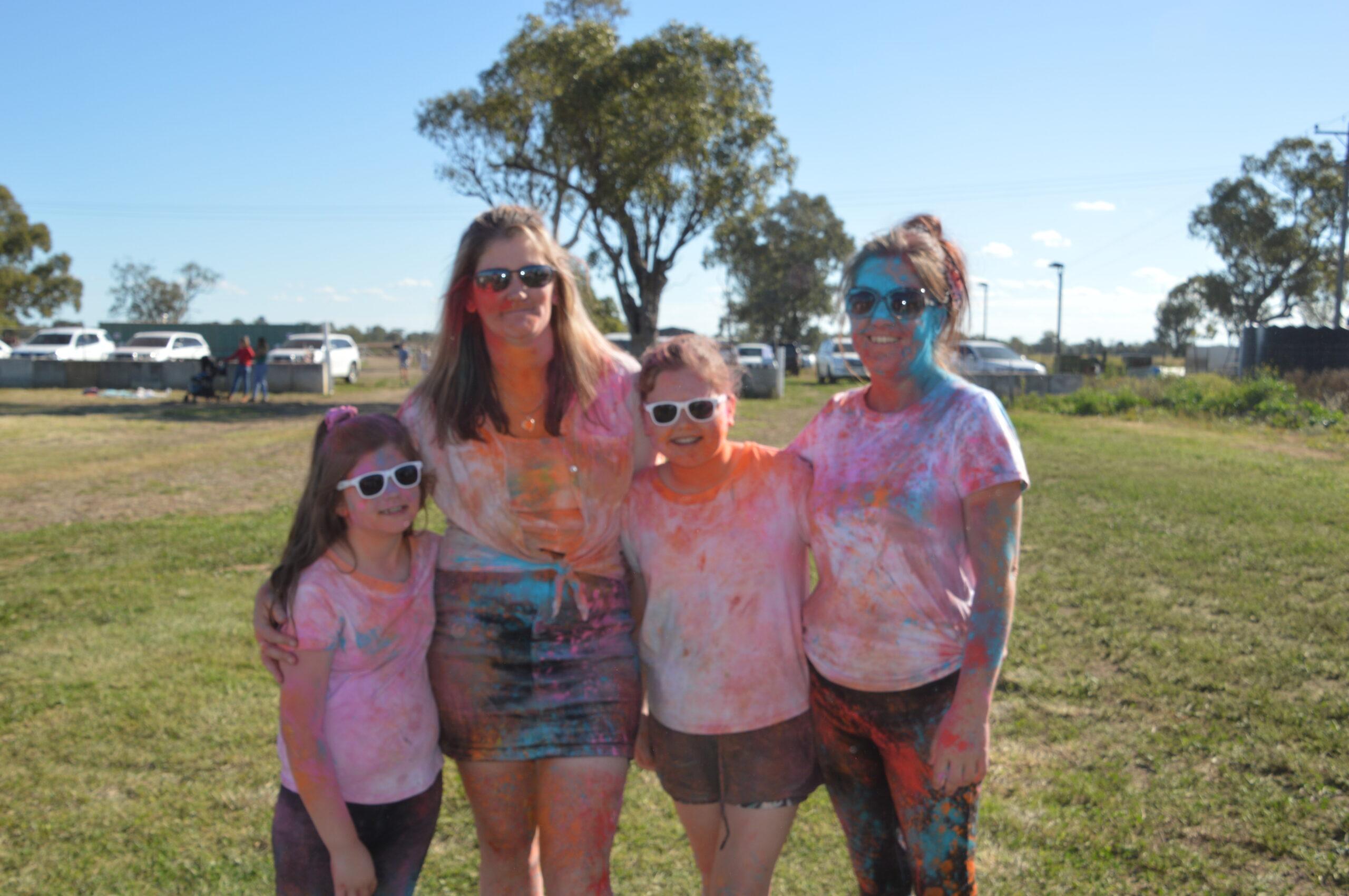 Amelia, Leeanne and Abbie Manton with Liz Briggs.