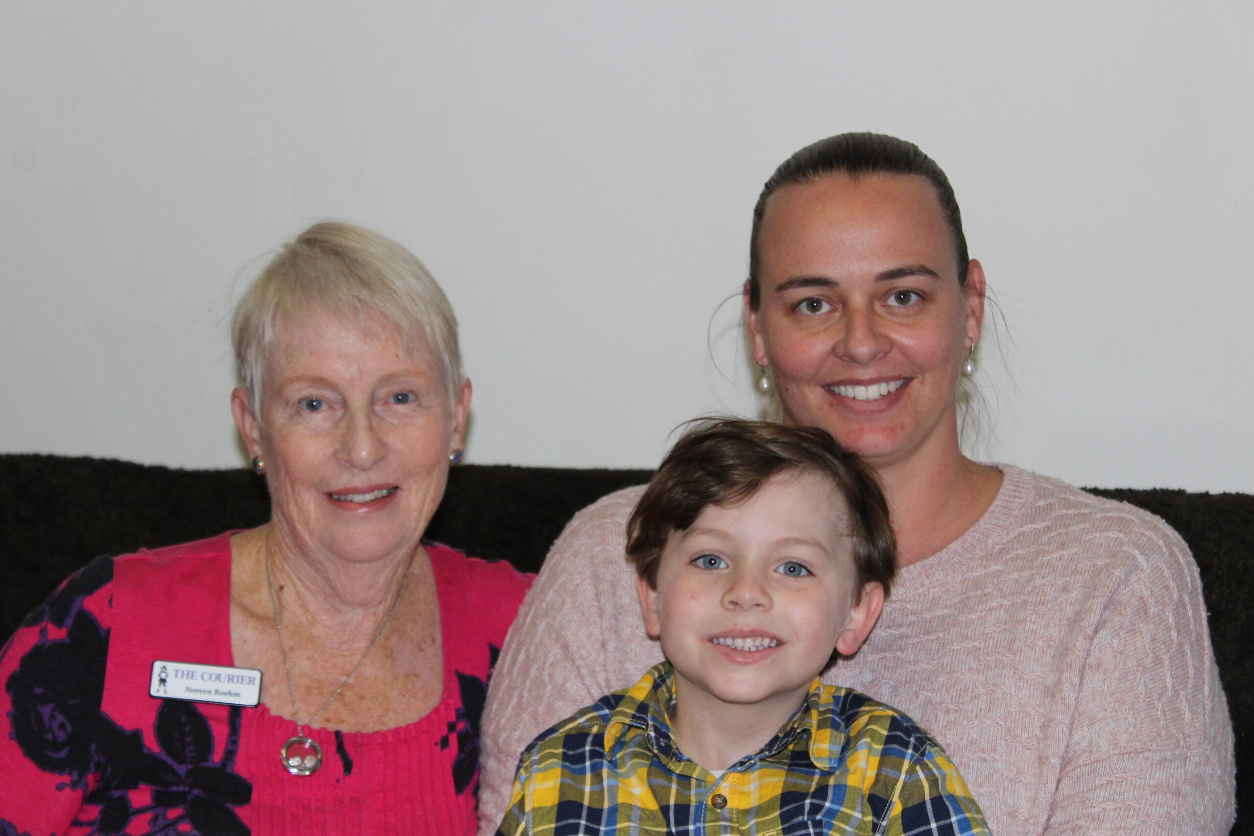 Noreen Boehm, William and Christine Copper.
