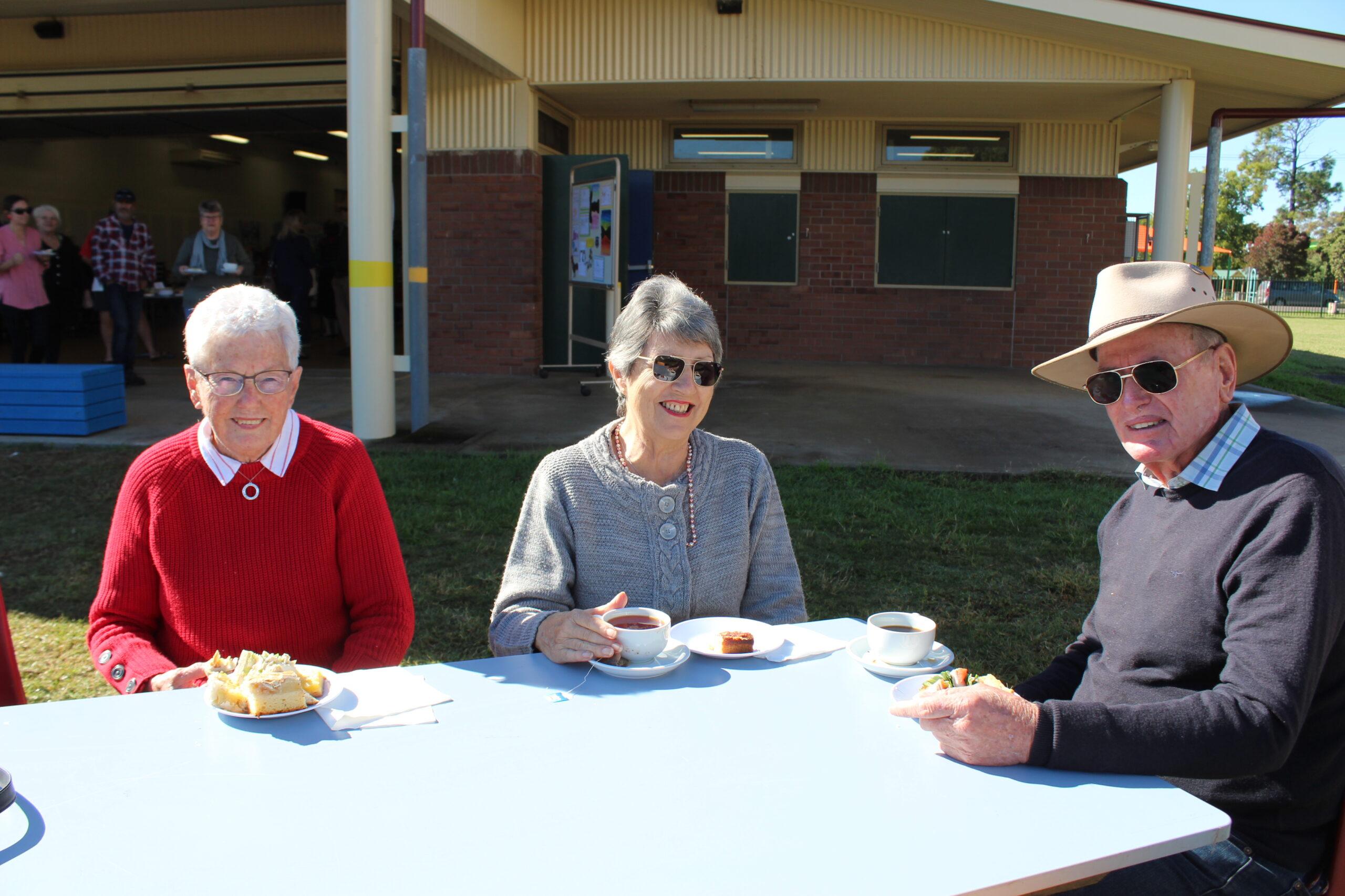 Barbara Turner, Sandra Jamieson and Roger Matthews.