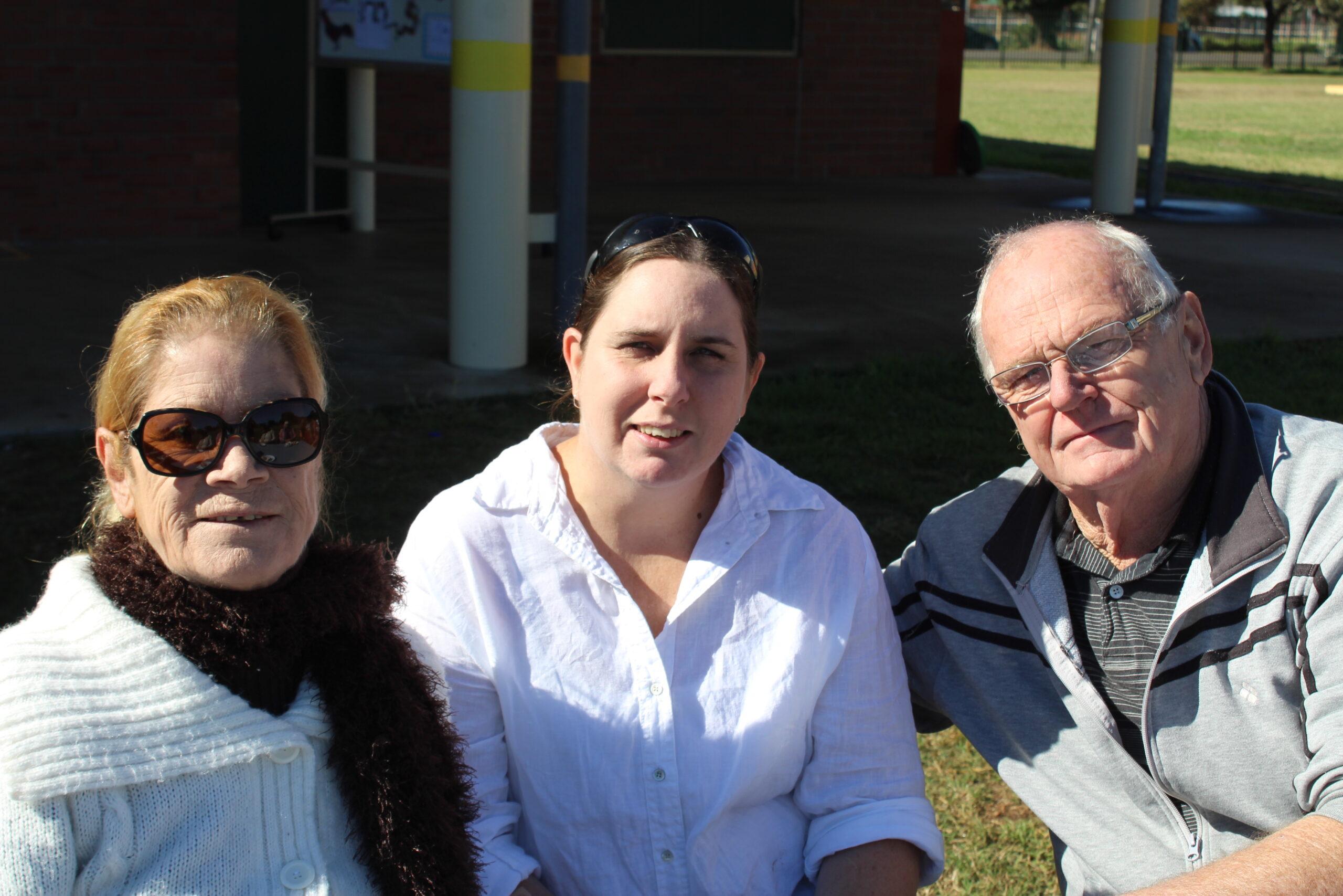 Karen, Tara and Kevin Cunningham.