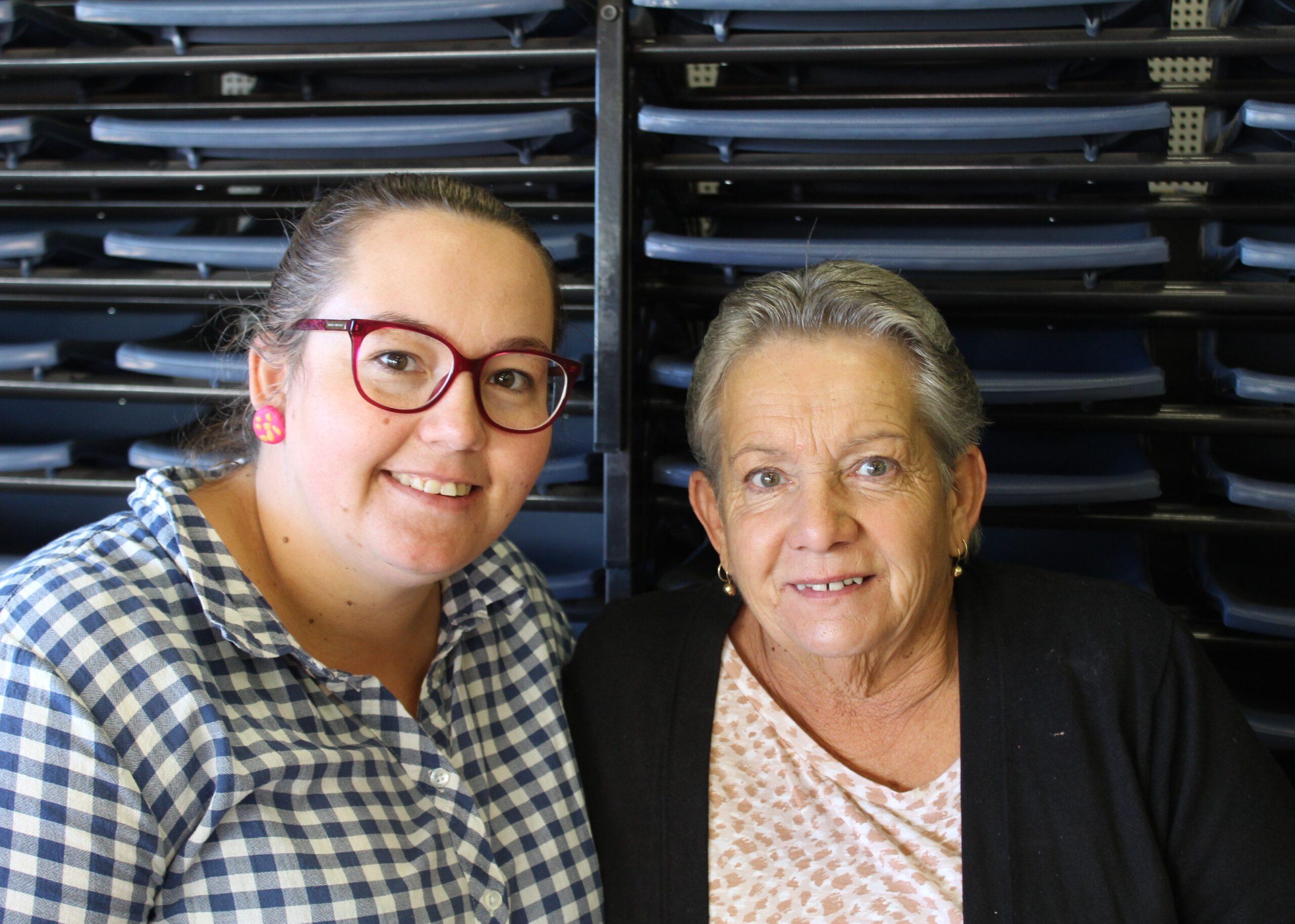 Camille Wannan and her mum Rosie
