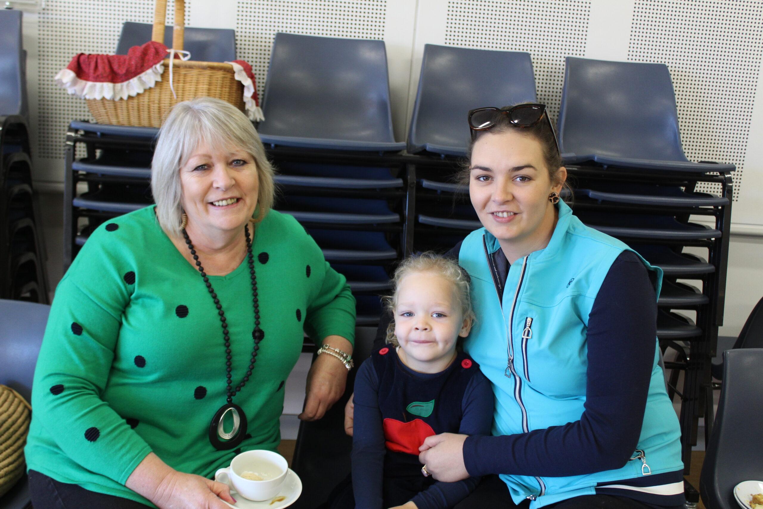 Pauline Grabham, Ruby Oliver and Laura Grabham.