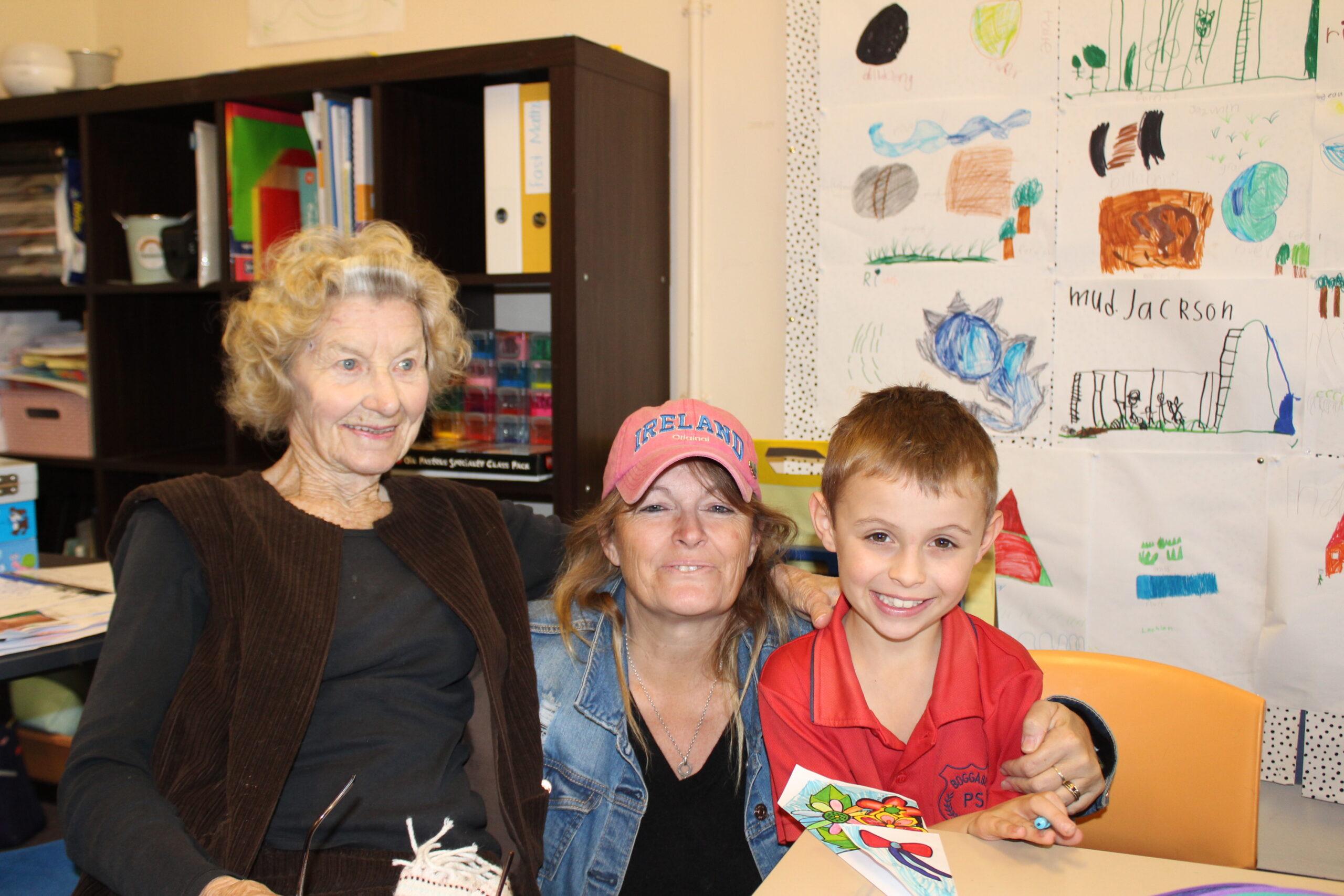 Beau Hobden had his great-grandmother Irene Hobden and grandmother, Nicky Hobden.