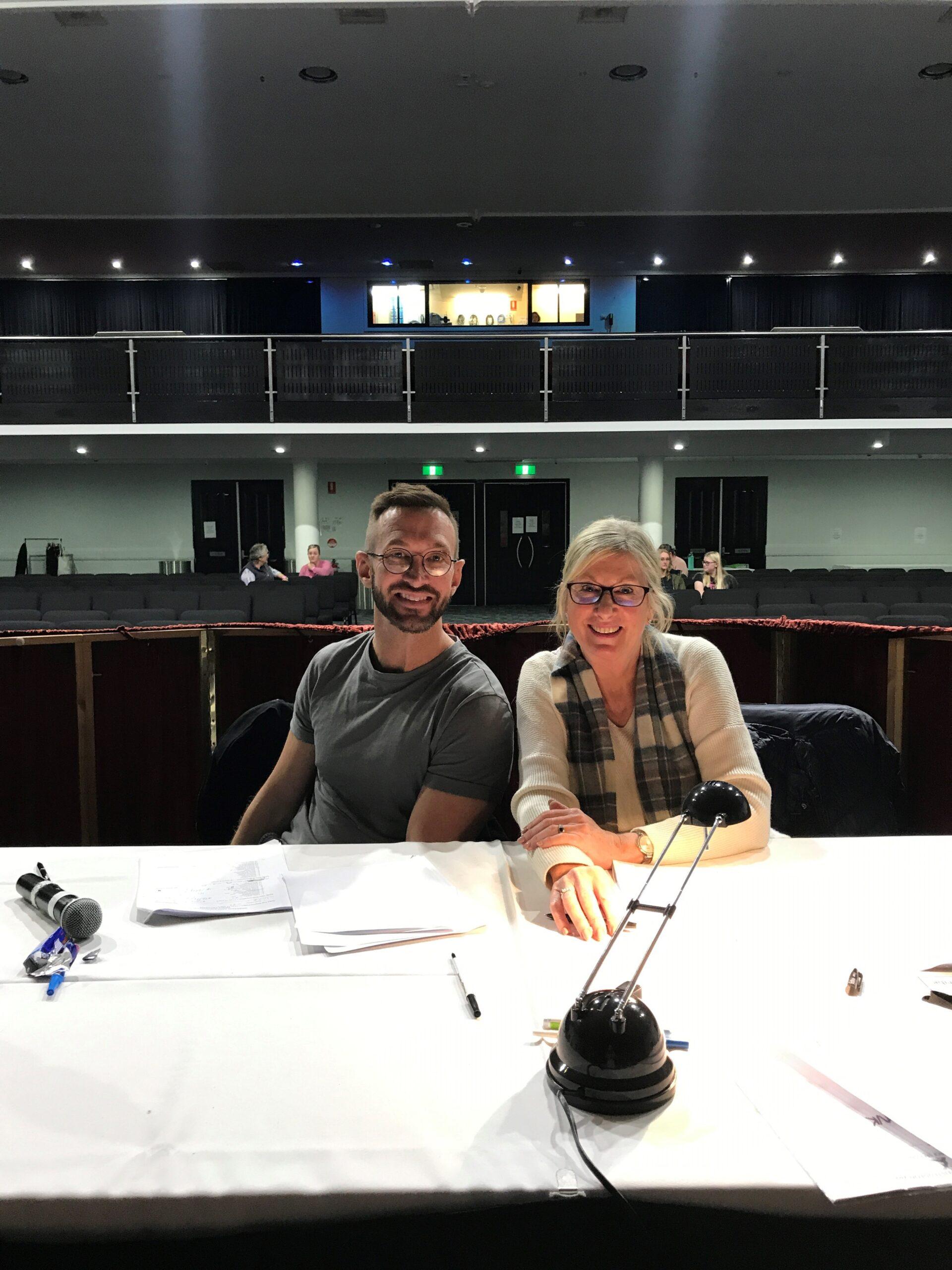 Dance adjudicator Dane Erbacher with long-time Narrabri Arts Eisteddfod supporter and scribe Louise Stewart.