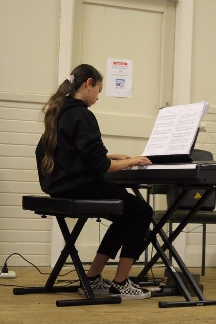 Aniesha Krishna playing Arabesque in A-minor by Burgmüller.