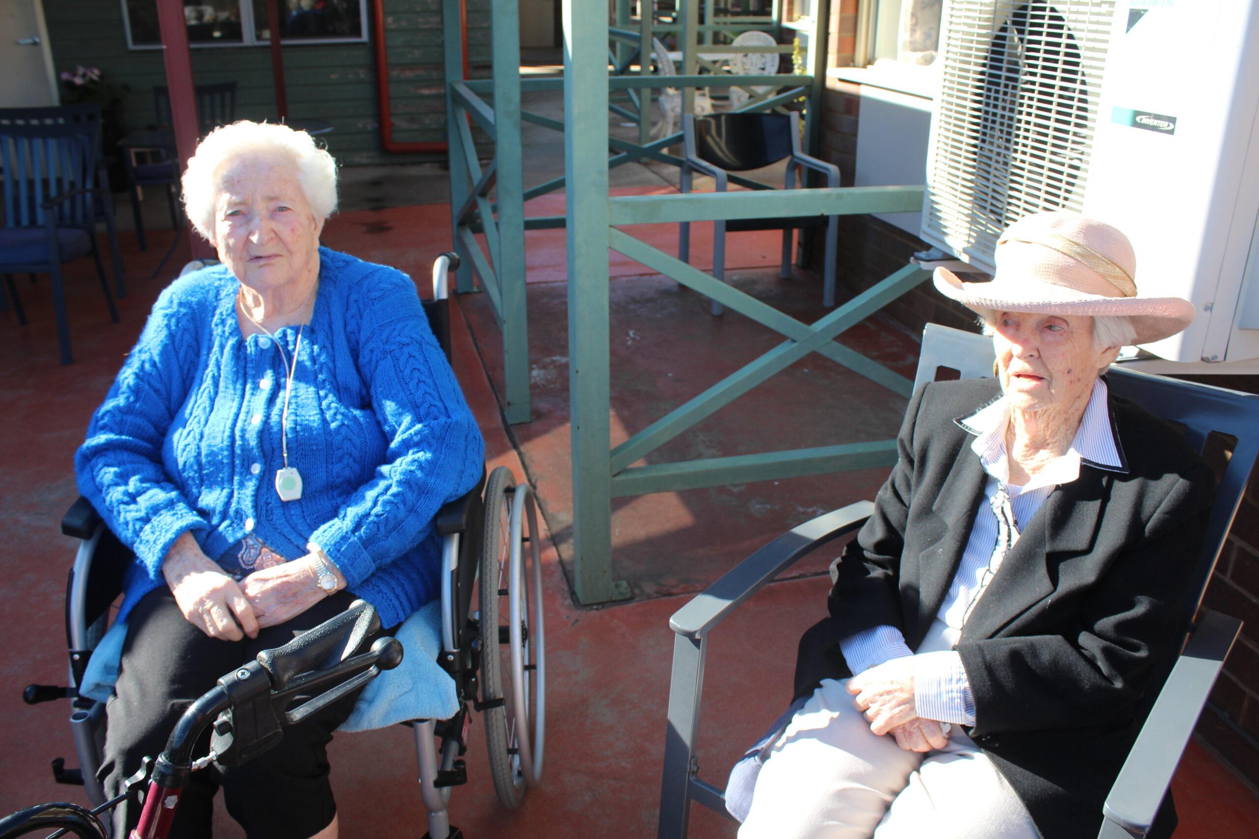 Beryl Holland and Ruth Rees.