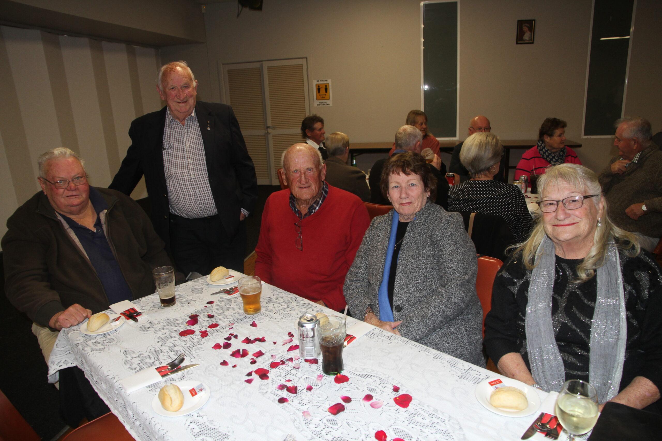 Don Madden, Gordon Cain, Robert and Margaret Stoltenberg and Helen Cain.
