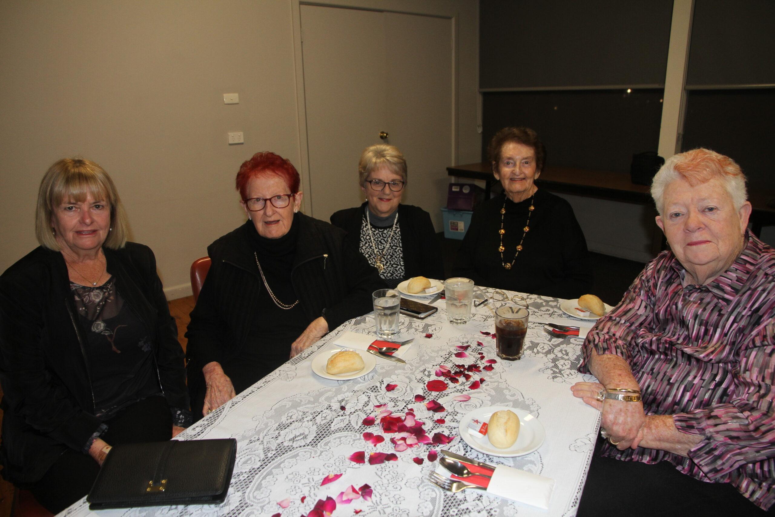 Lesley Anderson, Barb McNamara, Janet Baylis, Nola McNamara and Betty Large.
