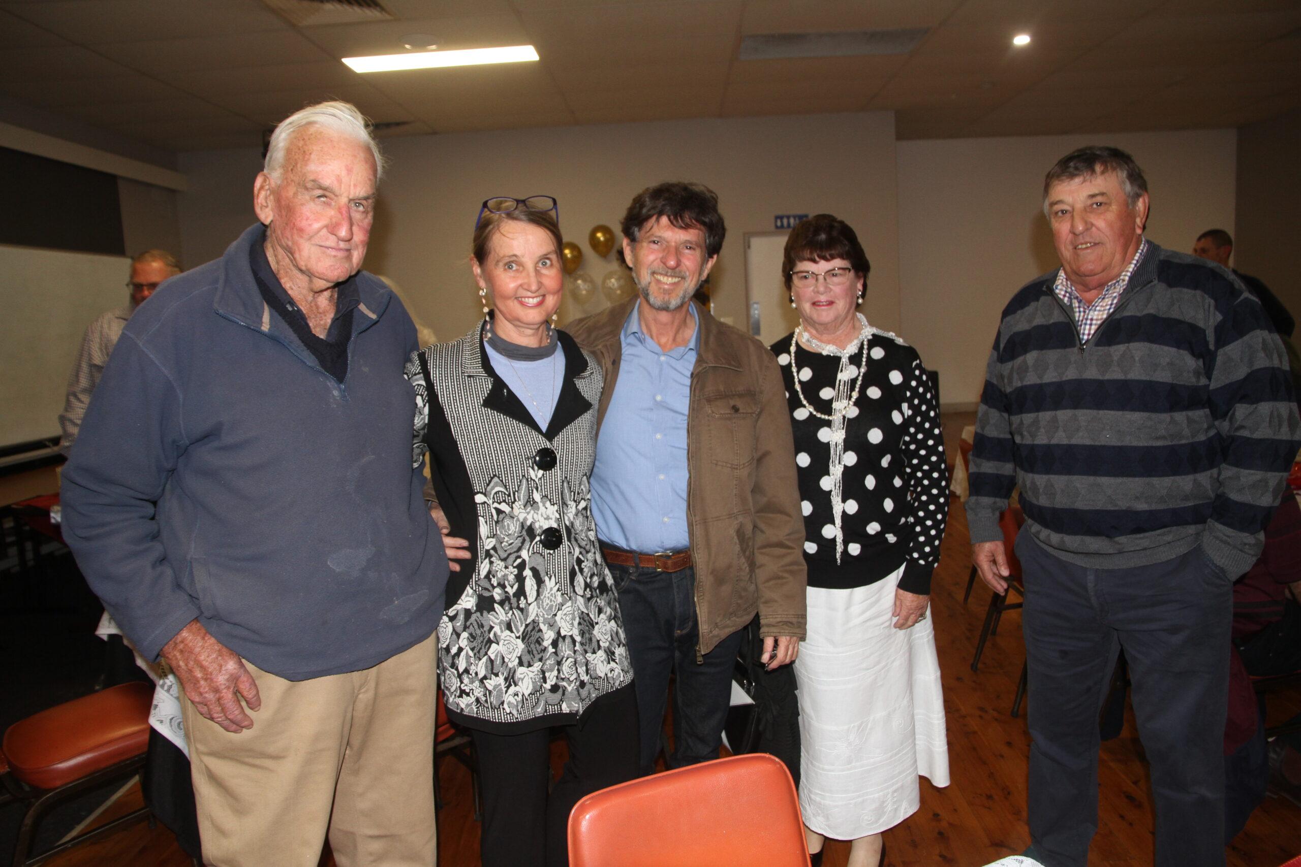 Phillip Melbourne, Robyn and Allen Barnes, Beryl and Rob McKenzie.