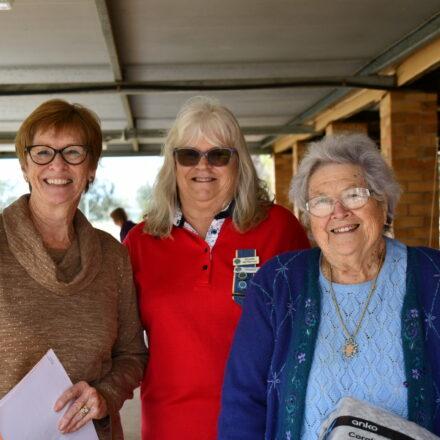 Kerry Eather, Rhonda McPherson and Pat Meppem.