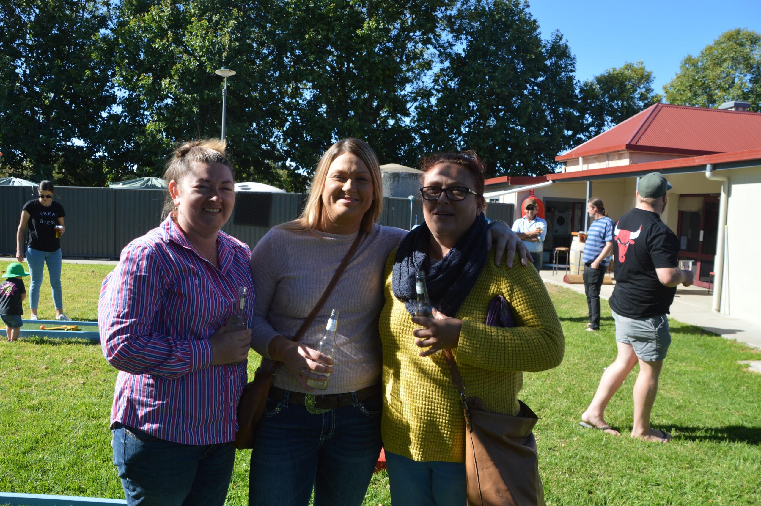 Lauren Black-Ford, Morgan Hill and Tabitha Hart.