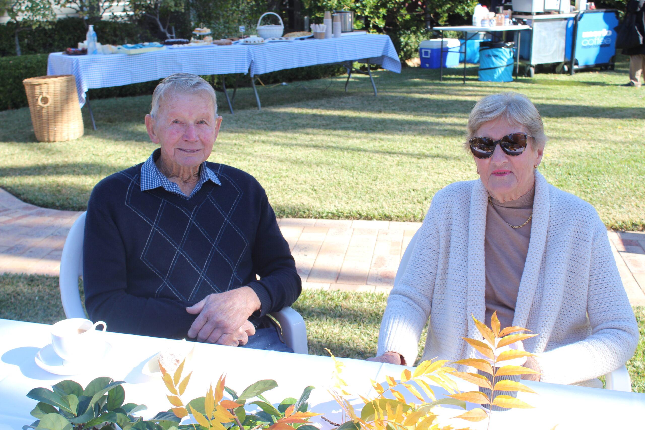 John Melbourne and Joan Burrell-Melbourne.