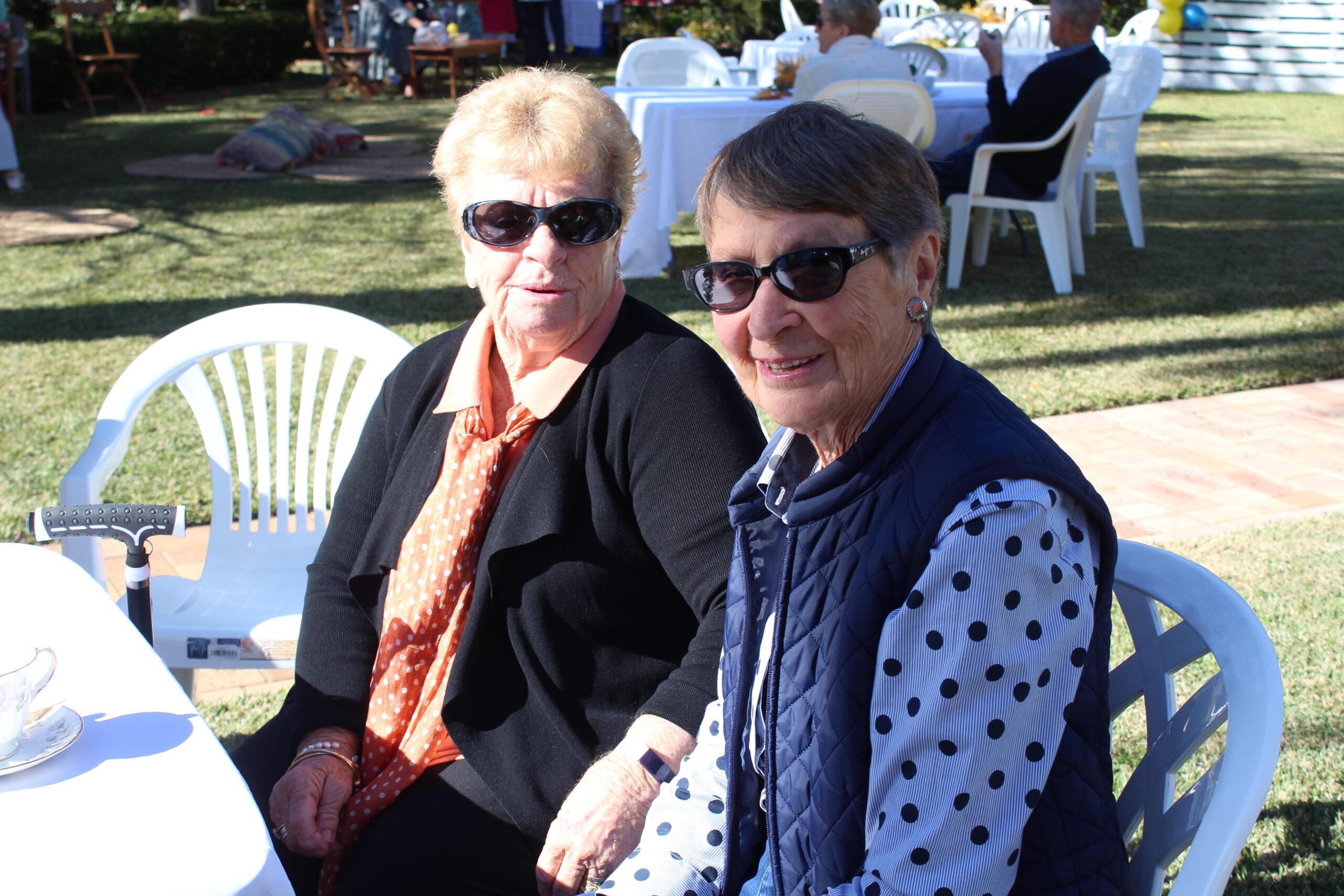 Carolynne Tomlinson and Margaret Sendall.