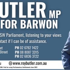 Member for Barwon Roy Butler.