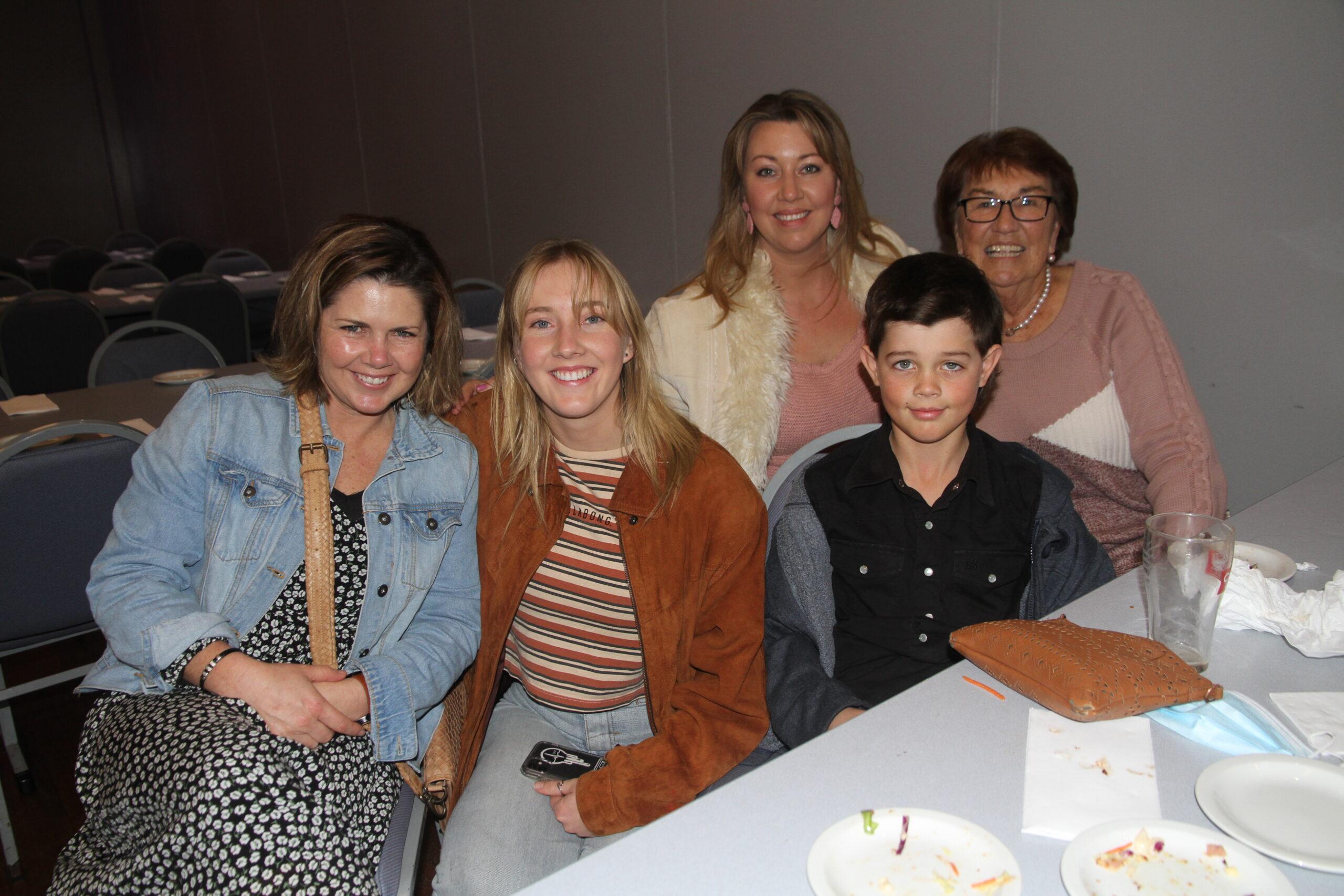 Cassie Dickinson, Clariese and Clarissa Ryman, Joe and Caroll Dickinson.