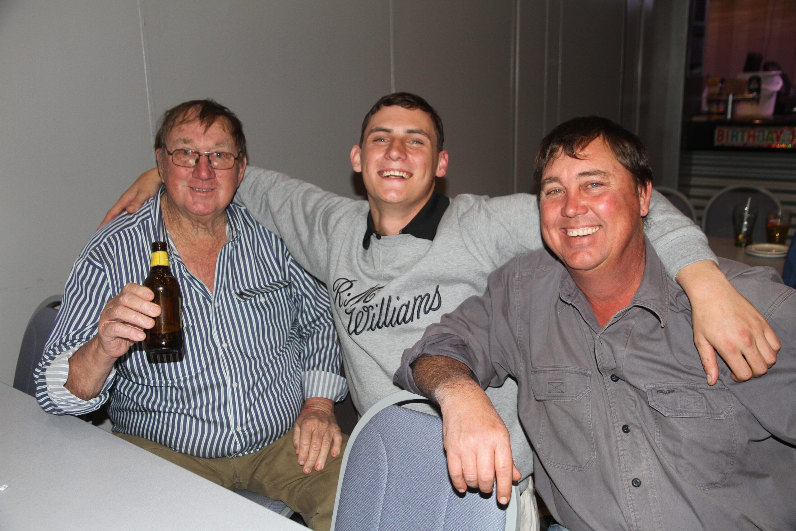 Chris Dickinson, Jacob Druce and Clayton Dickinson.