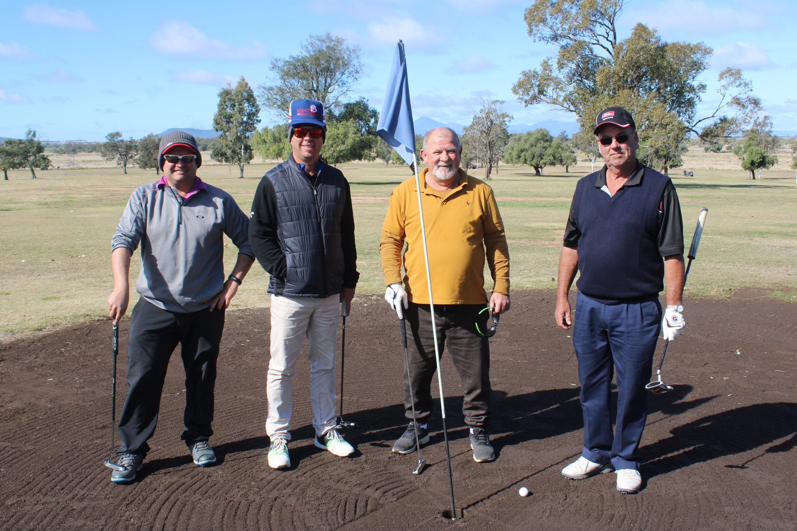 Adam Taylor, Troy Nott, Michael Wilson and Tony Nott.