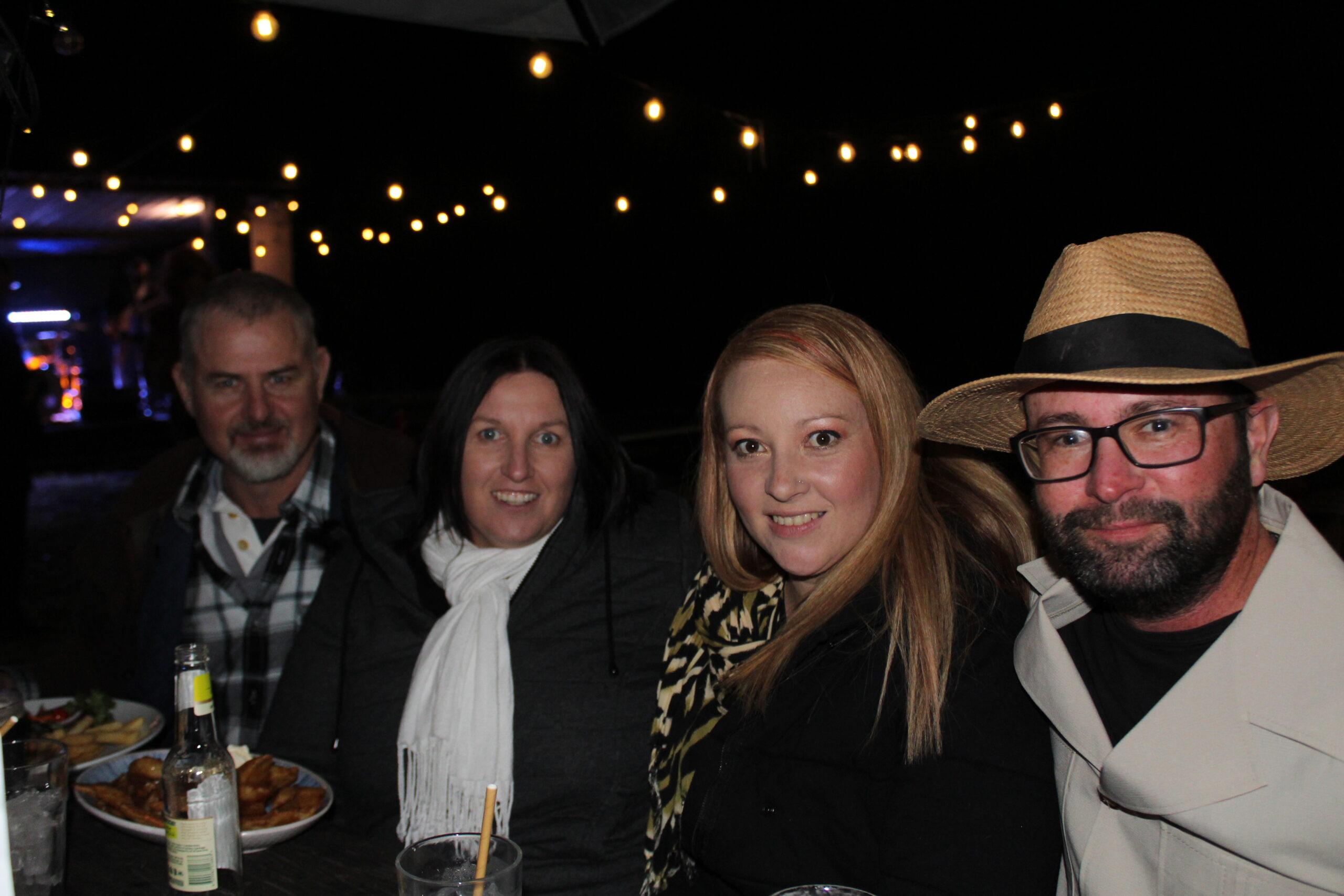 Greg Devine, Belinda Adamson, Stephanie and Kristen Hancock.
