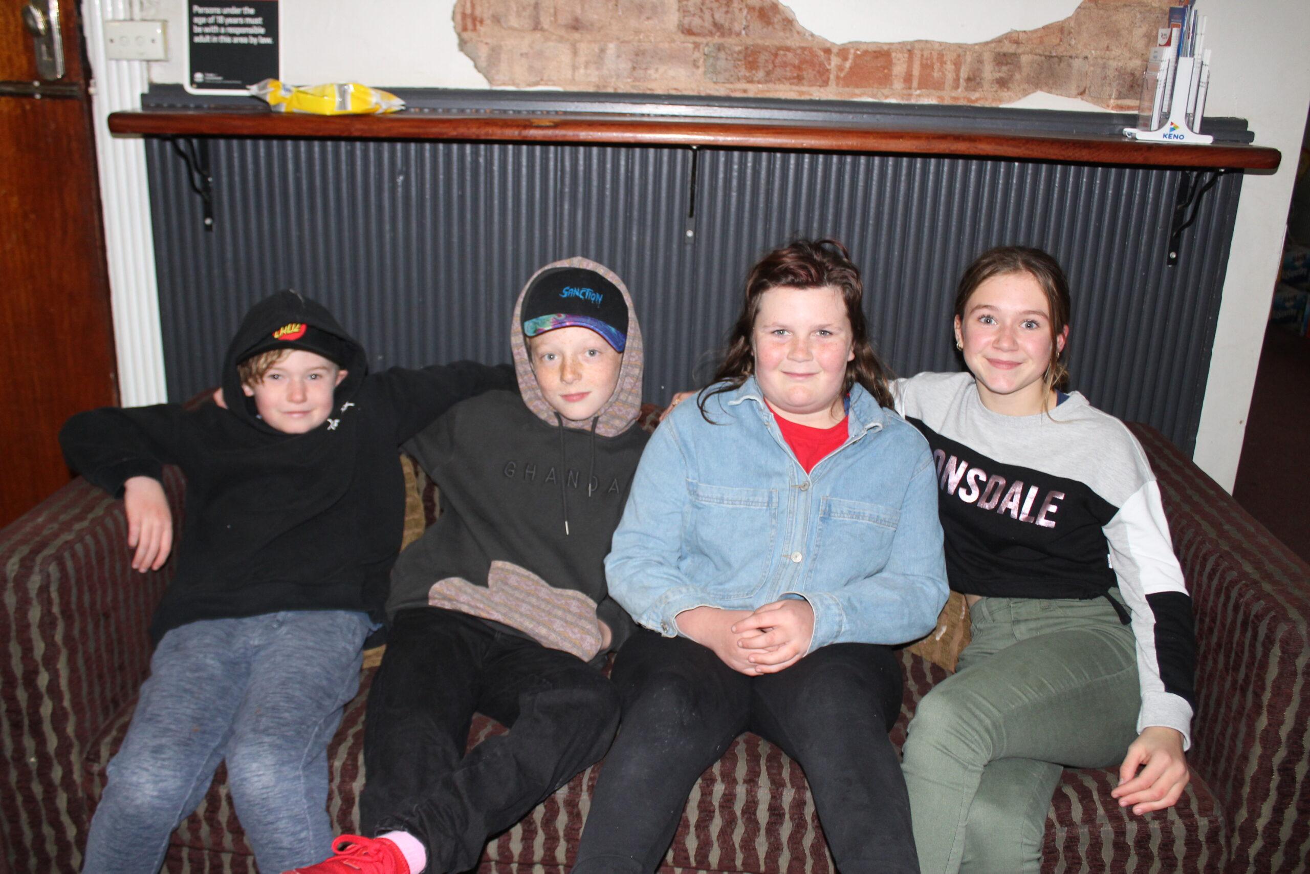 Coen Gough, Zachary Hancock, Myami Morley and Felicity Gough.