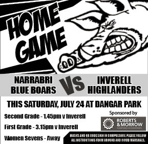 Narrabri Blue Boars determined to bounce back at Dangar Park