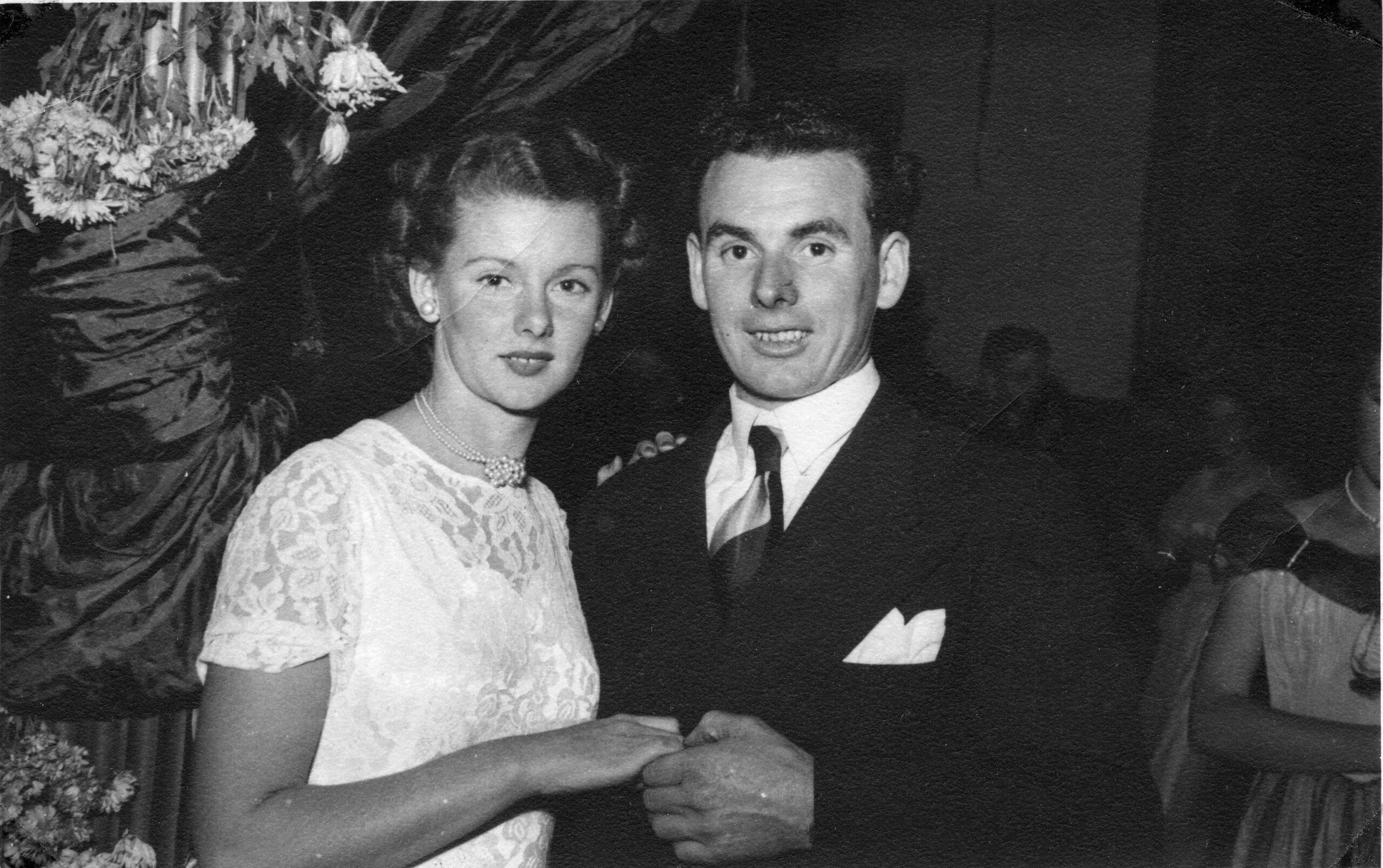 Bill and Beryl Heath at a ball.