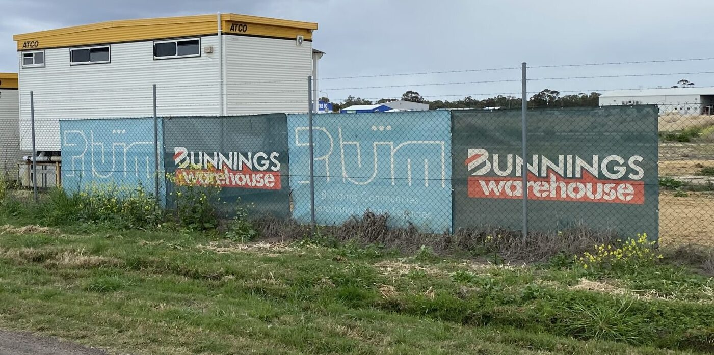Sign of the Bunnings times