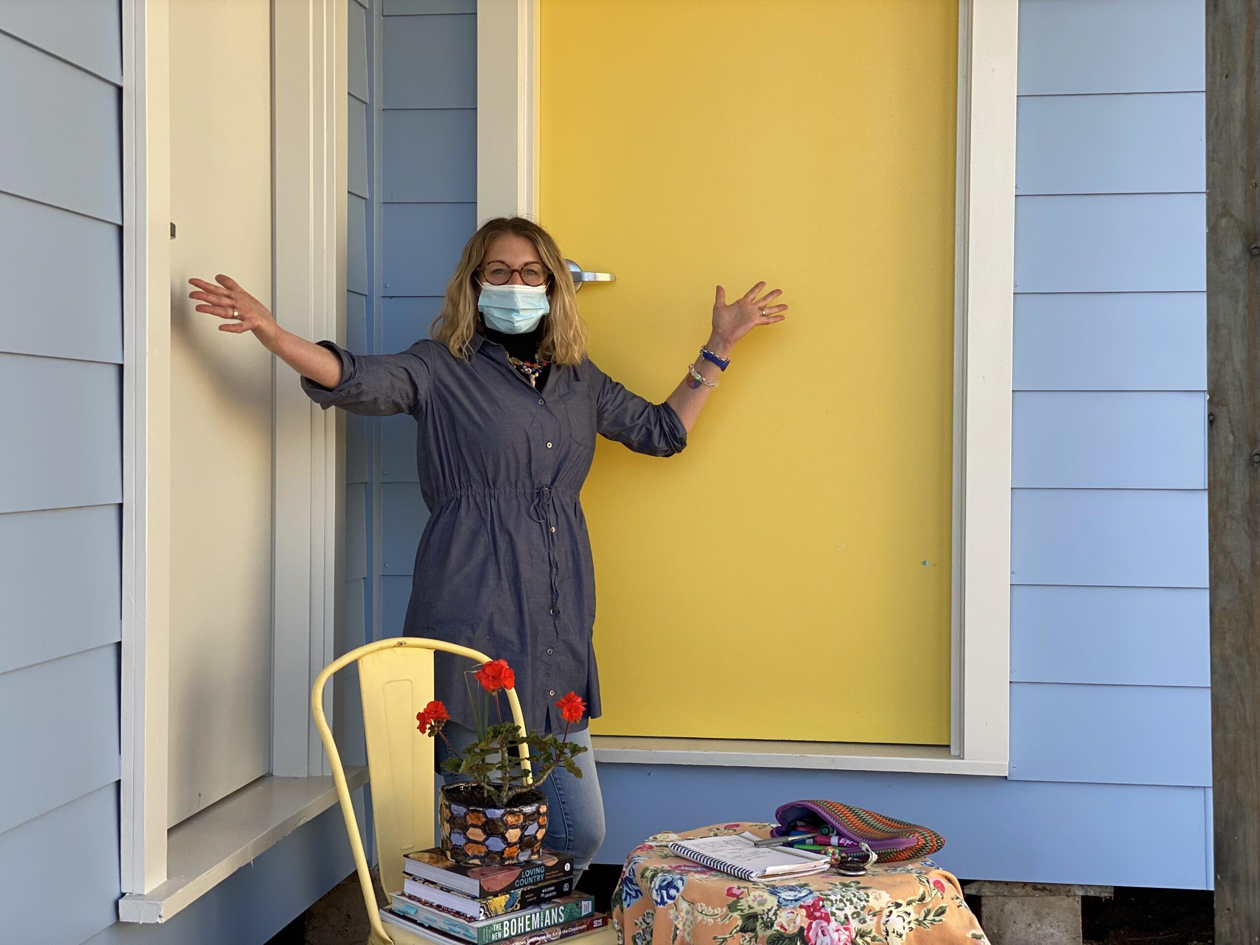 What's behind the yellow door?