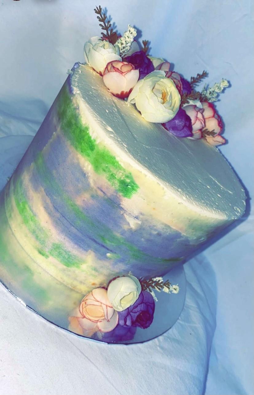 Onus Hardman's birthday cake made by her great-granddaughter Georgia Hardman.