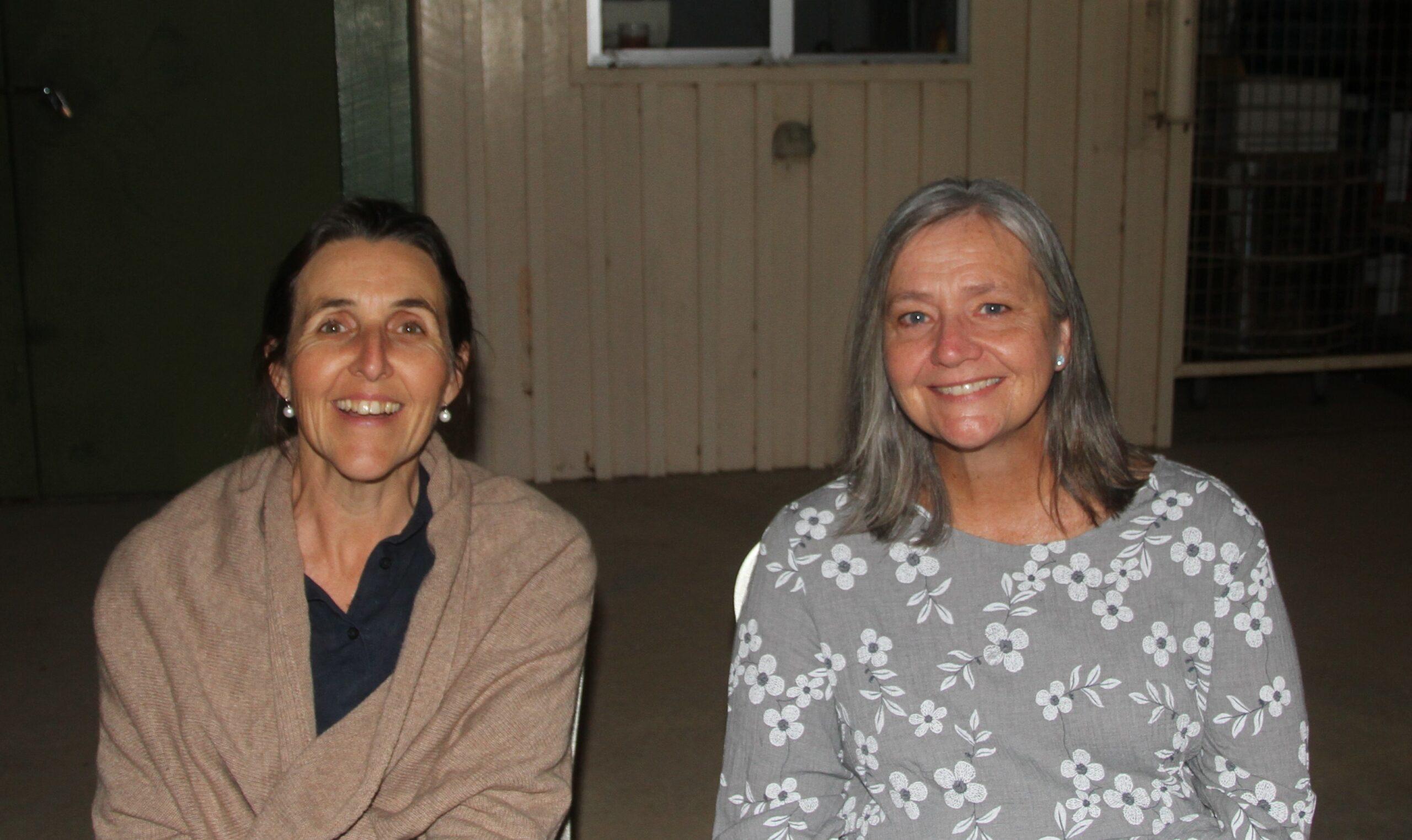Narrabri Art & Craft Society secretary Kaylene McClenaghan with Louise Stiller.