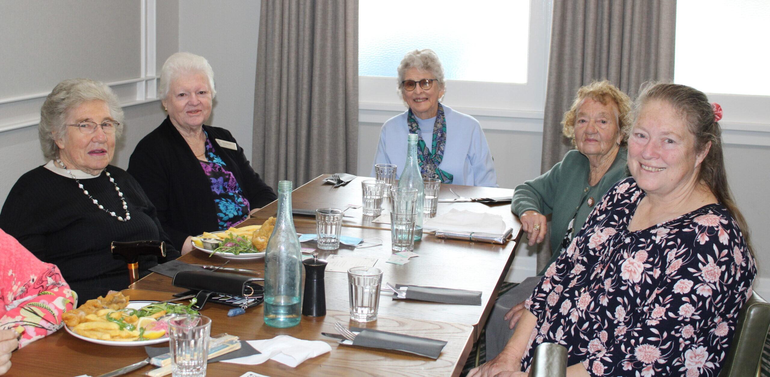 Sue Hunt, Gloria Brown, Gwenda Fordham, Pat Hlad and Kristine Allen.